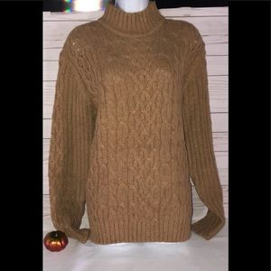 ST JOHN'S BAY Wool Cable Pullover / Large